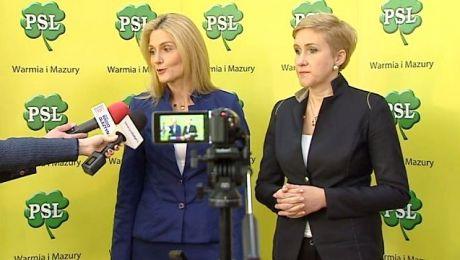 Sylwia Jaskulska i Urszula Pasławska podczas konferencji