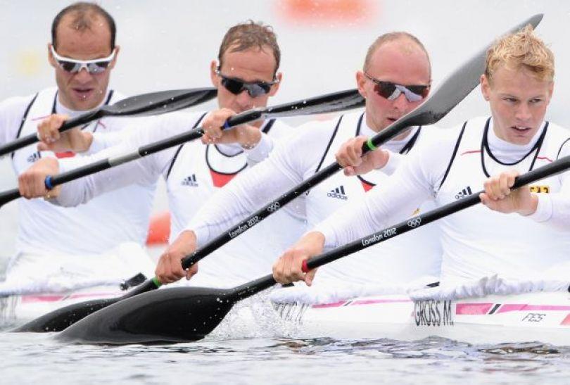 Niemcy awansowali do finału K4 na 1000 metrów (fot. Getty Images)
