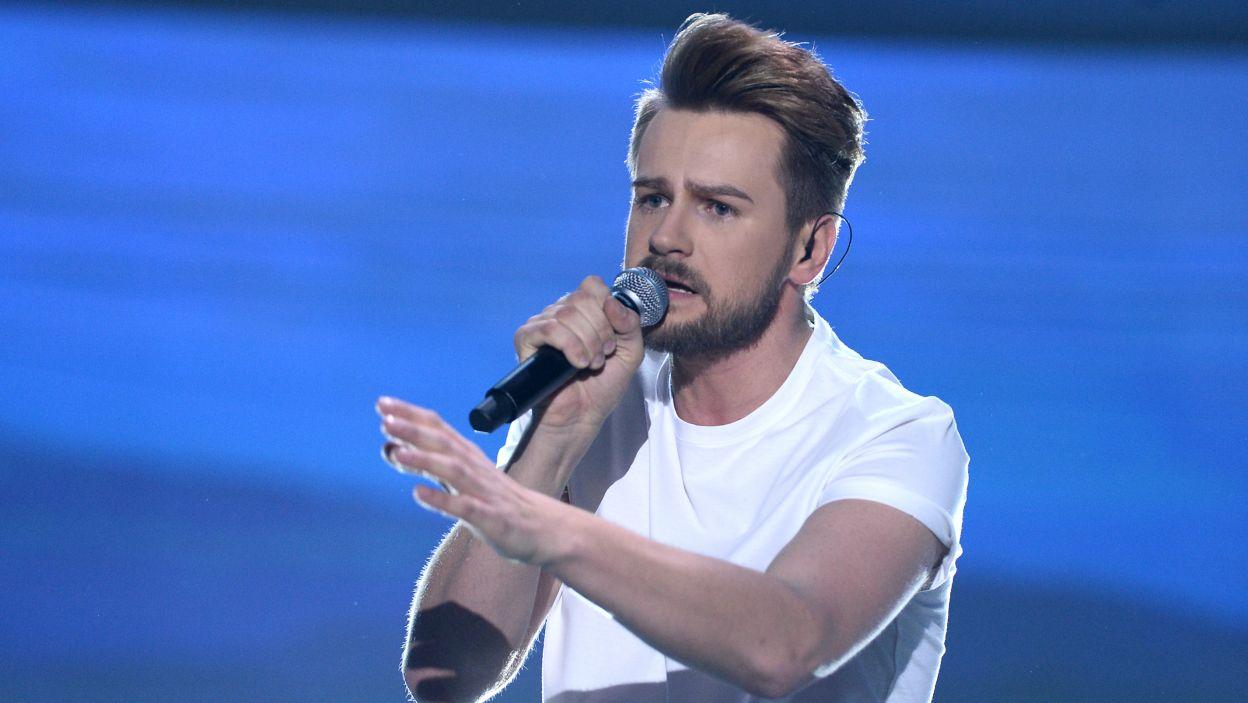 """Martin Fitch, a właściwie Marcin Mroziński również ma za sobą udział w kilku programach muzycznych. Jego piosenka """"Fight for Us"""" zajęła 7. miejsce (fot. Jan Bogacz/TVP)"""