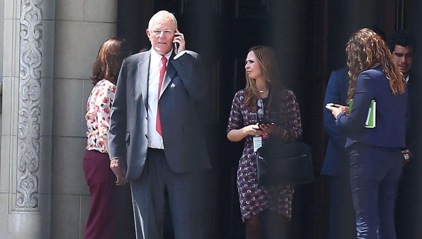 Prezydent Peru Pedro Pablo Kuczynski złoży w czwartek urząd (fot. PAP/EPA/Ernesto Arias)