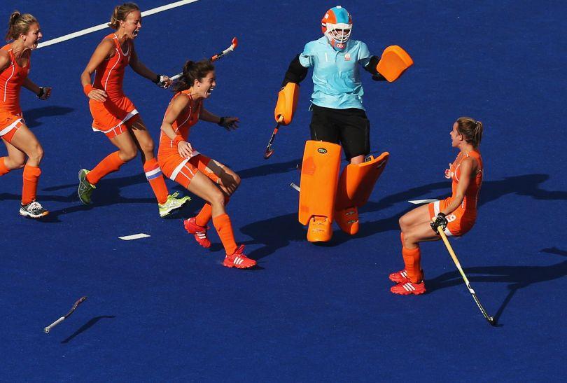 Radość Holenderek po zwycięstwie w półfinale (fot. Getty Images)