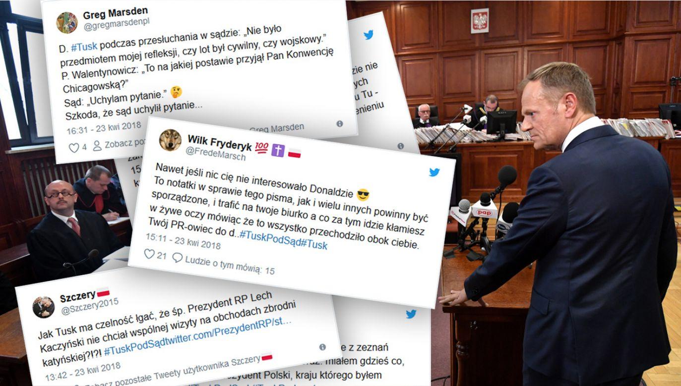 Zeznania przed sądem Donalda Tuska były najważniejszym tematem dnia w internecie (fot.  PAP/Bartłomiej Zborowski)