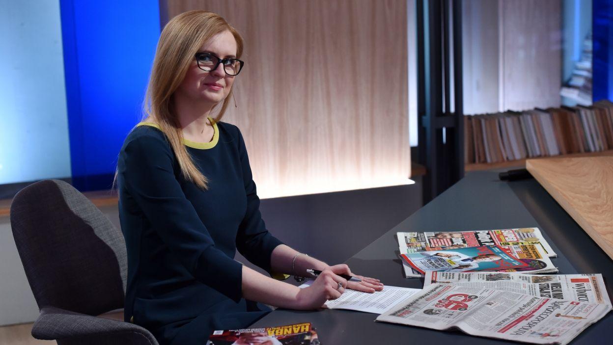 Na przegląd prasy zaprasza Edyta Hołdyńska (fot. Ireneusz Sobieszczuk/TVP)