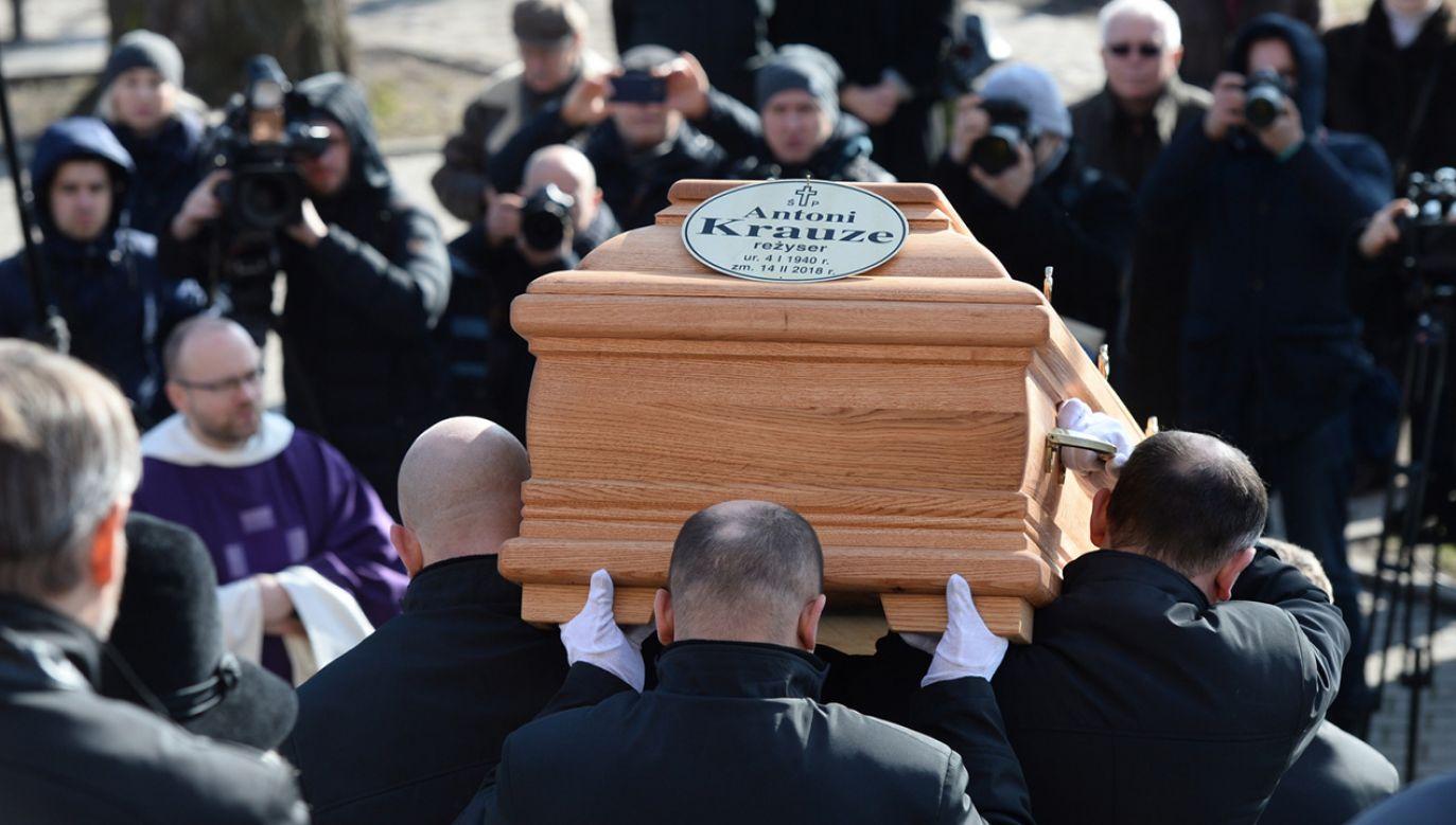 Uroczystości pogrzebowe reżysera Antoniego Krauzego w kościele oo. Dominikanów na warszawskim Służewie (fot. PAP/Jacek Turczyk)