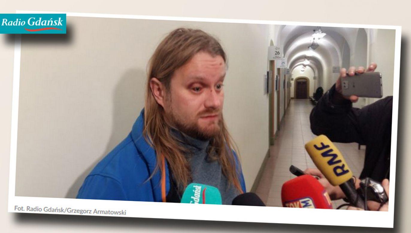 Sciapan Swiderski zgodził się na upublicznienie swoich danych osobowych i wizerunku (fot. Radio Gdańsk)