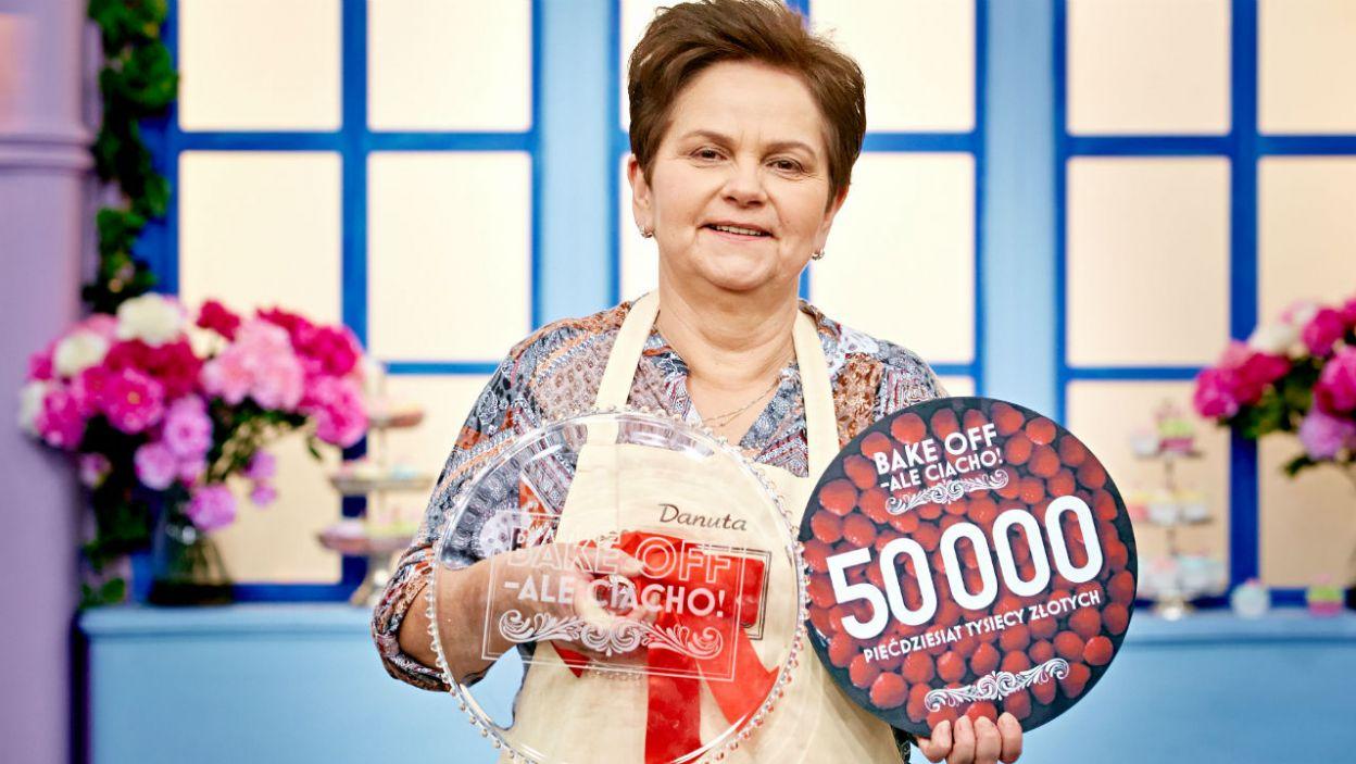 """Zwyciężczynią IV edycji """"Bake Off – Ale ciacho!"""" została Danuta! (fot. TVP)"""
