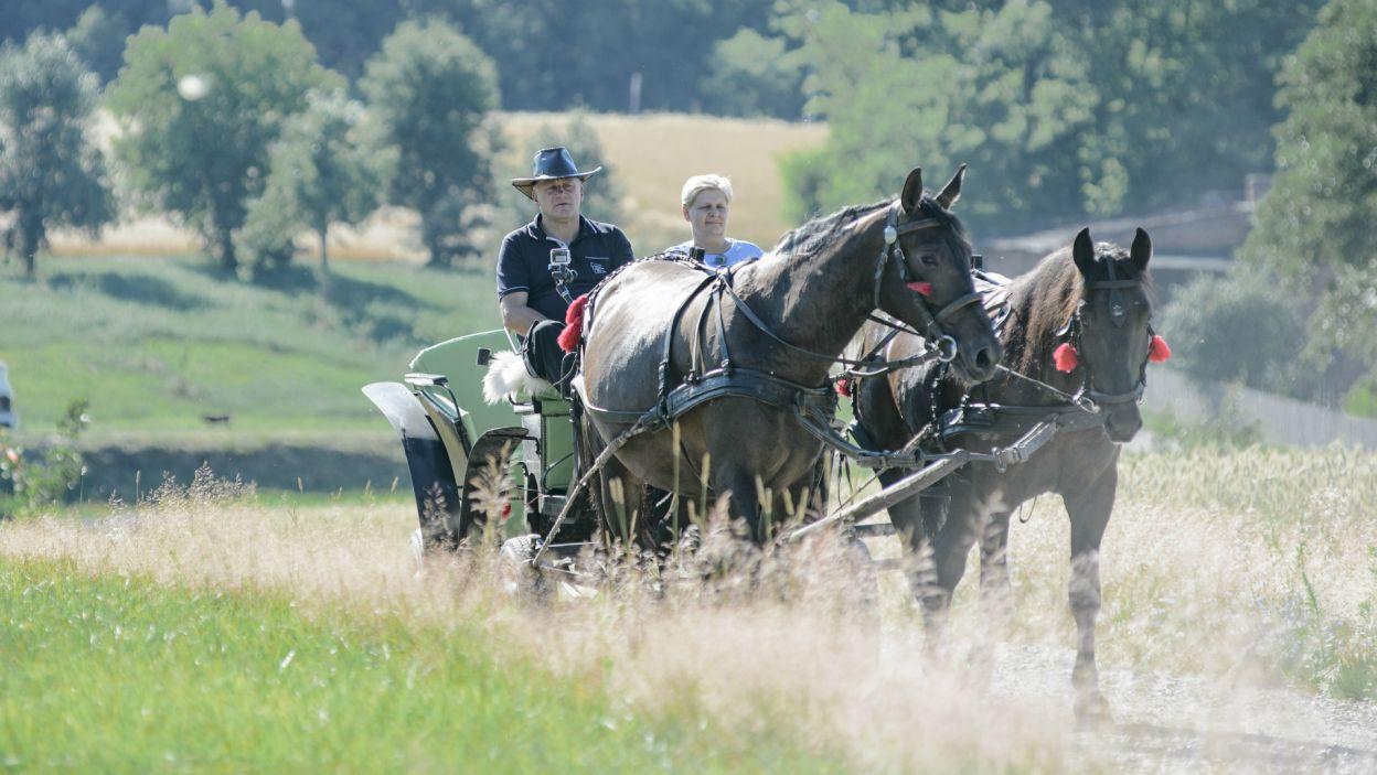 W tym odcinku rolnicy zabrali swoje kandydatki na randki tylko we dwoje. Jan zdecydował, że weźmie Elę na przejażdżkę (fot. TVP)