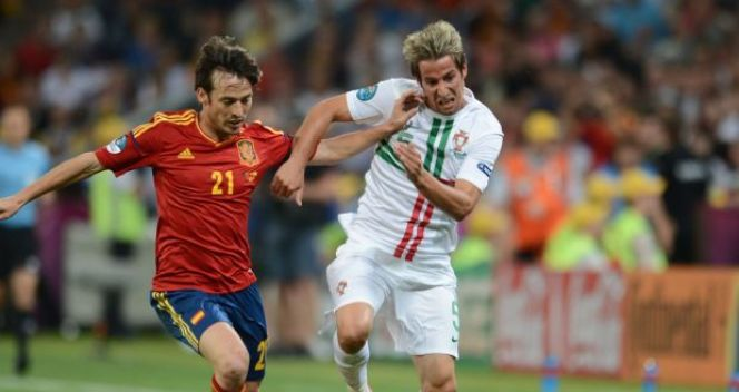 David Silva i Fabio Coentrao (fot. Getty Images)