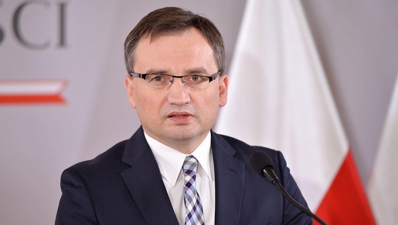 Minister sprawiedliwości, prokurator generalny Zbigniew Ziobro (fot. PAP/Marcin Kmieciński )