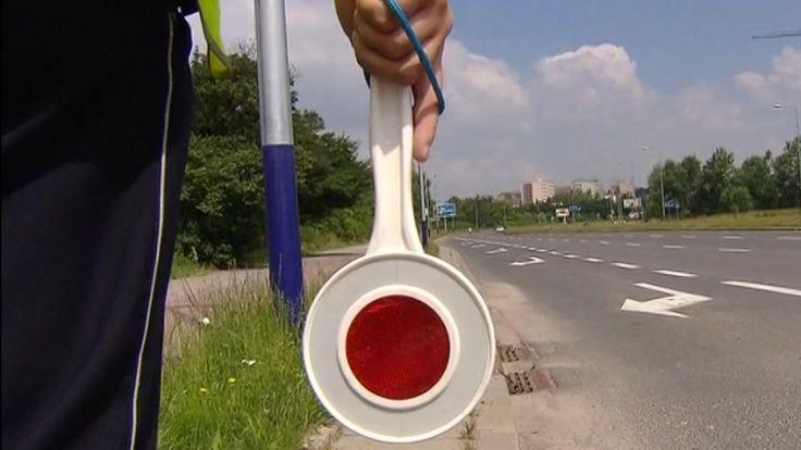 Kierowca został zatrzymywany przez drogówkę w Oświęcimiu, fot. arch. TVP3 Kraków