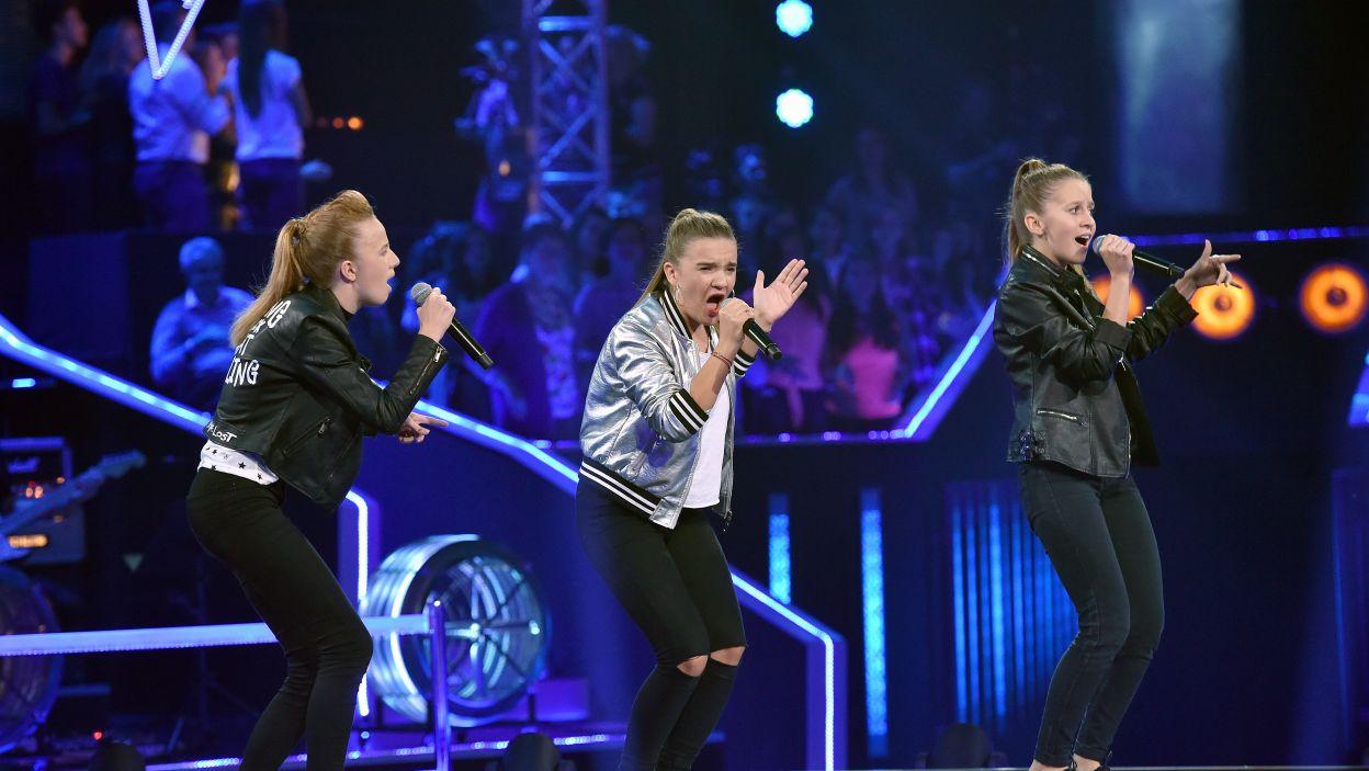 – To była torpeda! – tymi słowami Edyta Górniak określiła występ Michaliny, Karoliny i Julki (Fot.I. Sobieszczuk/TVP)