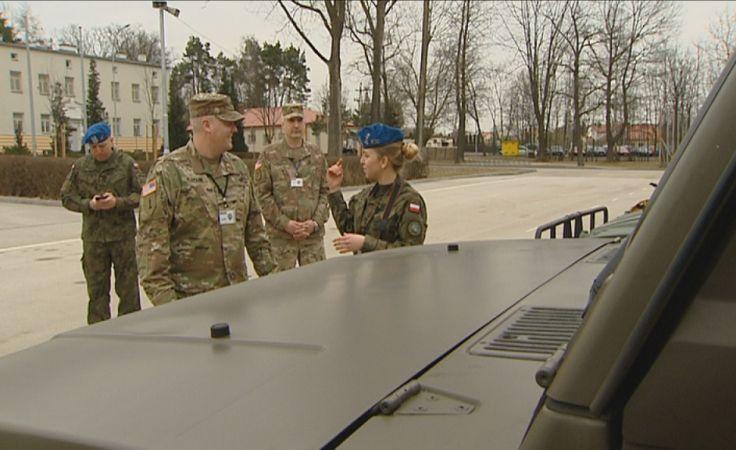 Amerykańscy żołnierze w Kielcach