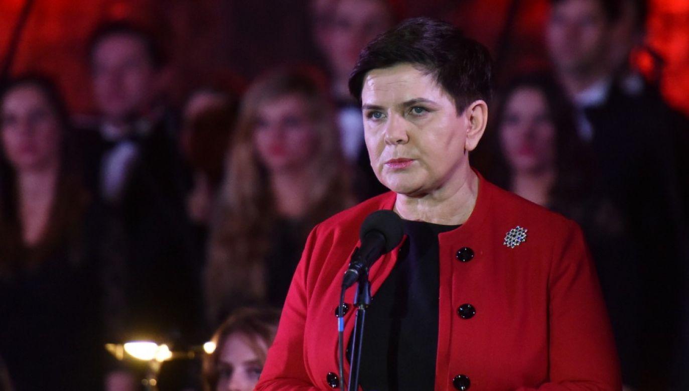 Premier Beata Szydło podczas koncertu w Kopalni Soli w Wieliczce (fot. PAP/Jacek Bednarczyk)