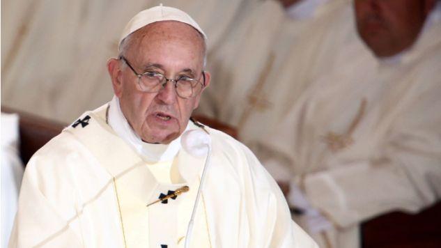 Papież Franciszek przewodniczy mszy św. w sanktuarium Jana Pawła II w krakowskich Łagiewnikach (fot. PAP/Leszek Szymański)