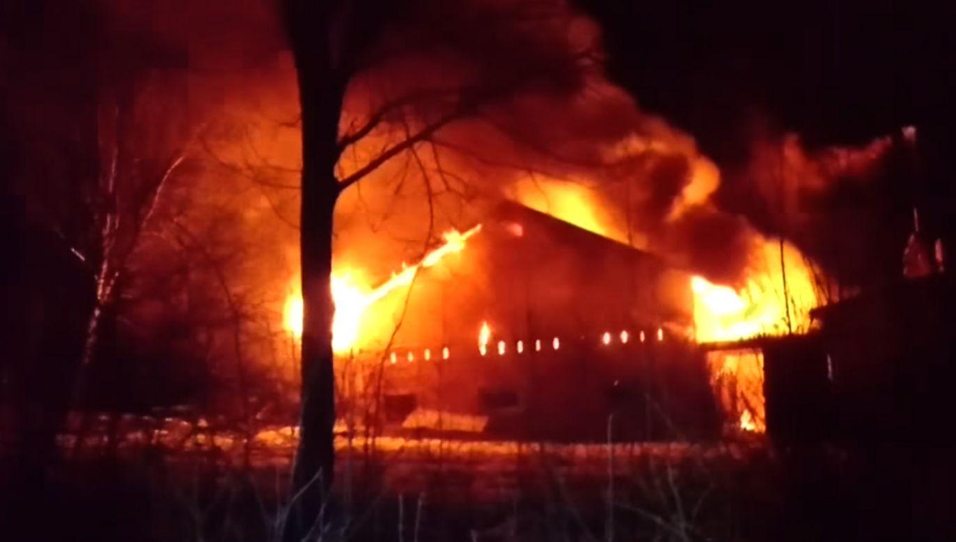 Do pożaru doszło we wtorek wieczorem (fot. YouTube/Rafał Kiełtyka)