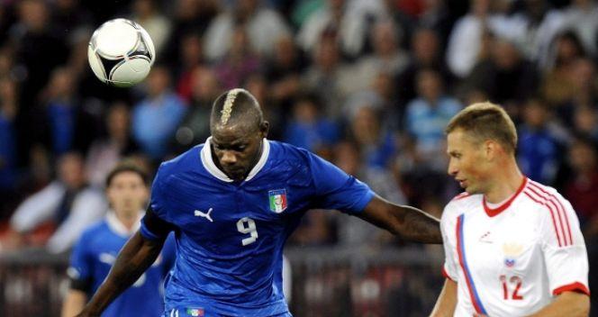 Mario Balotelli tym razem nie trafił do siatki (fot. PAP/EPA)