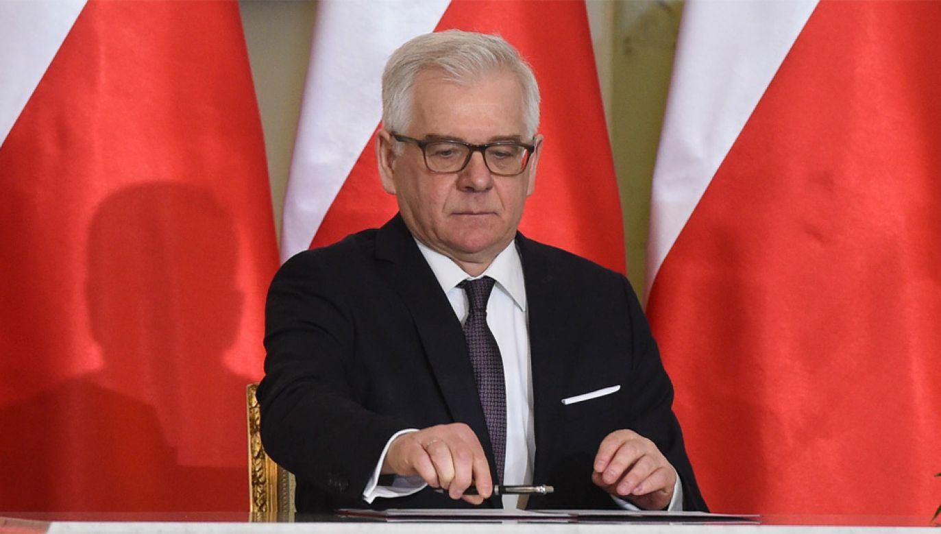 Szef MSZ Jacek Czaputowicz (fot. PAP/Radek Pietruszka)