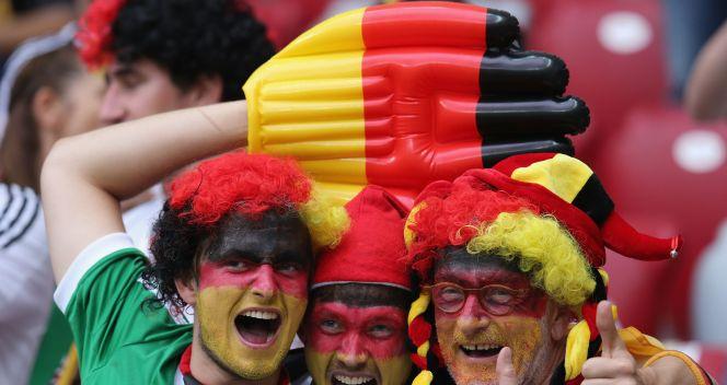 Niemieccy kibice na Stadionie Narodowym (fot. Getty Images)