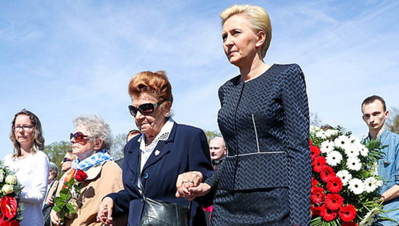 W Miejscu Pamięci Ravensbrück odbyły się uroczystości z okazji 73. rocznicy wyzwolenia obozu koncentracyjnego (fot. KPRP/Grzegorz Jakubowski)