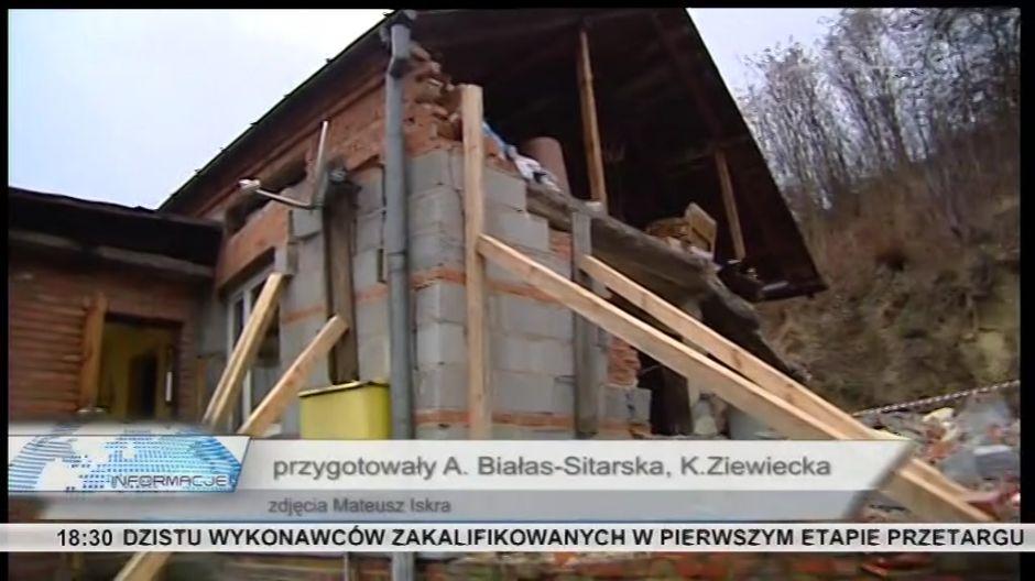 Wybuchła butla z gazem, dom zrujnowany
