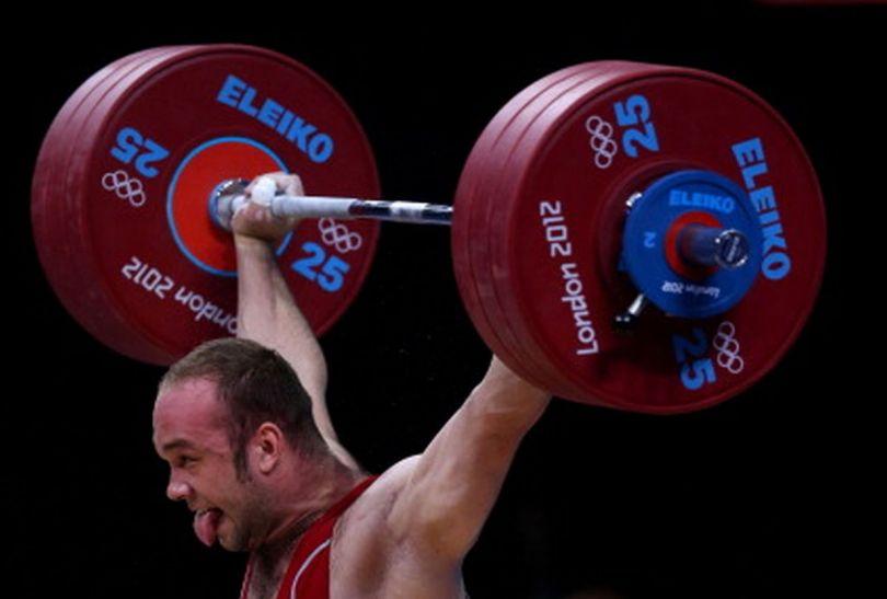Uzbek Ruslan Nurudinov podczas swojej próby (fot.Getty Images)