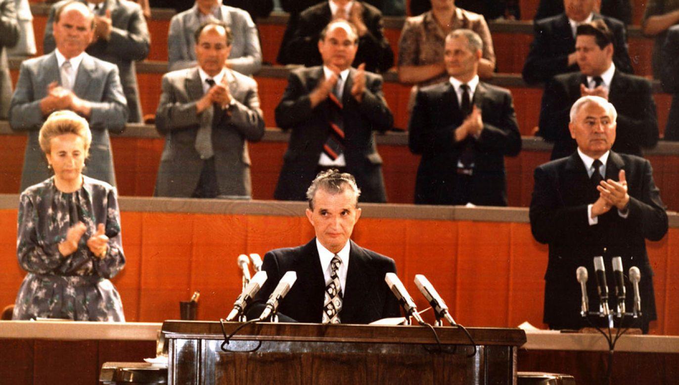 Nicolae Ceausescu był otoczony kultem w Rumunii (fot. Wiki/fototeca.iiccr.ro)