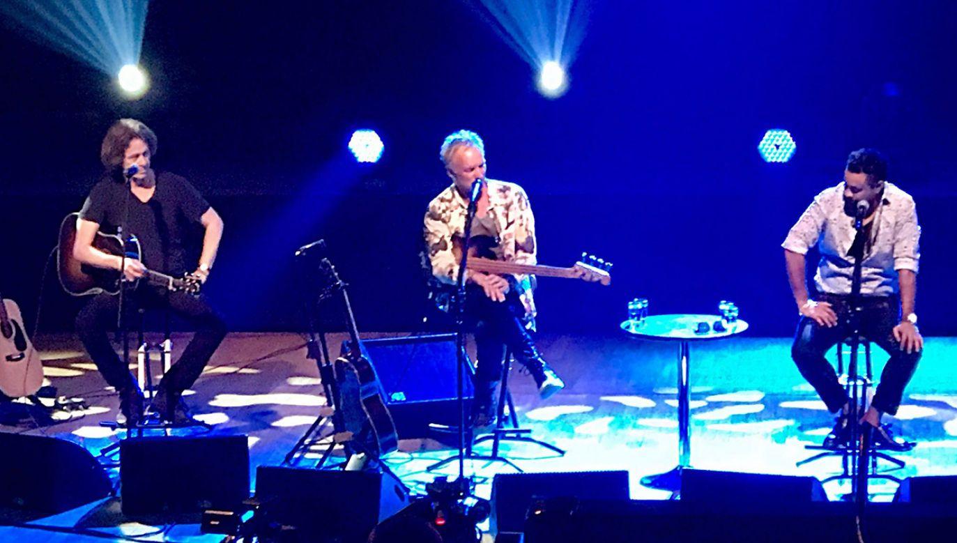 Sting i Shaggy na scenie radiowego studia im. Witolda Lutosławskiego  (fot. Adam Zawadzki)