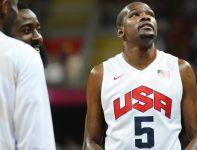 Kevin Durant, gracz Dream Teamu (fot. PAP/EPA/Larry W. Smith)