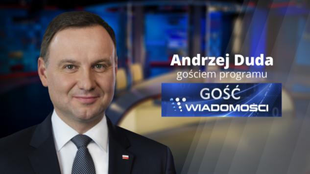 """Prezydent Andrzej Duda """"Gościem Wiadomości"""" w TVP Info"""