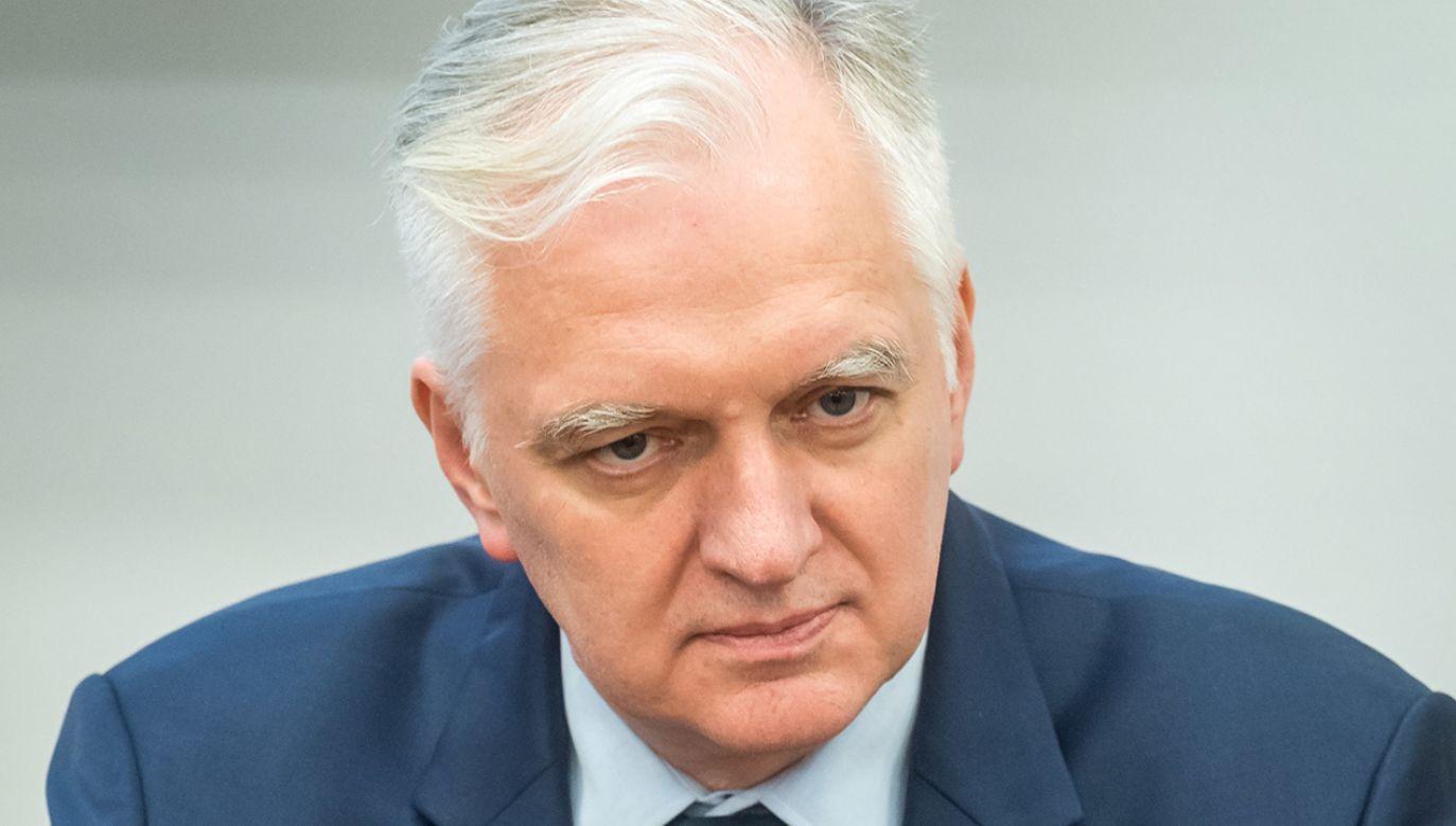 Wicepremier, minister nauki i szkolnictwa wyższego Jarosław Gowin (fot.  PAP/Tytus Żmijewski )