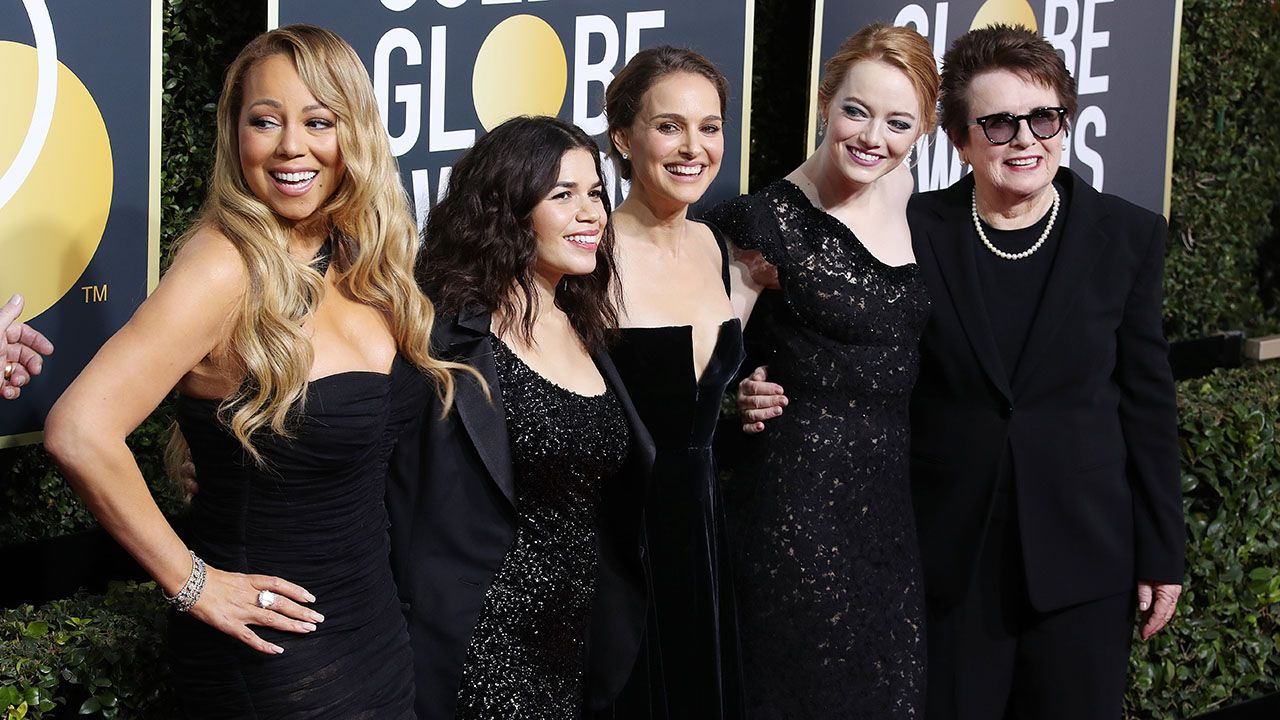 Mariah Carey, America Ferrera, Natalie Portman, Emma Stone i Billie Jean King fot. EPA/PAP)