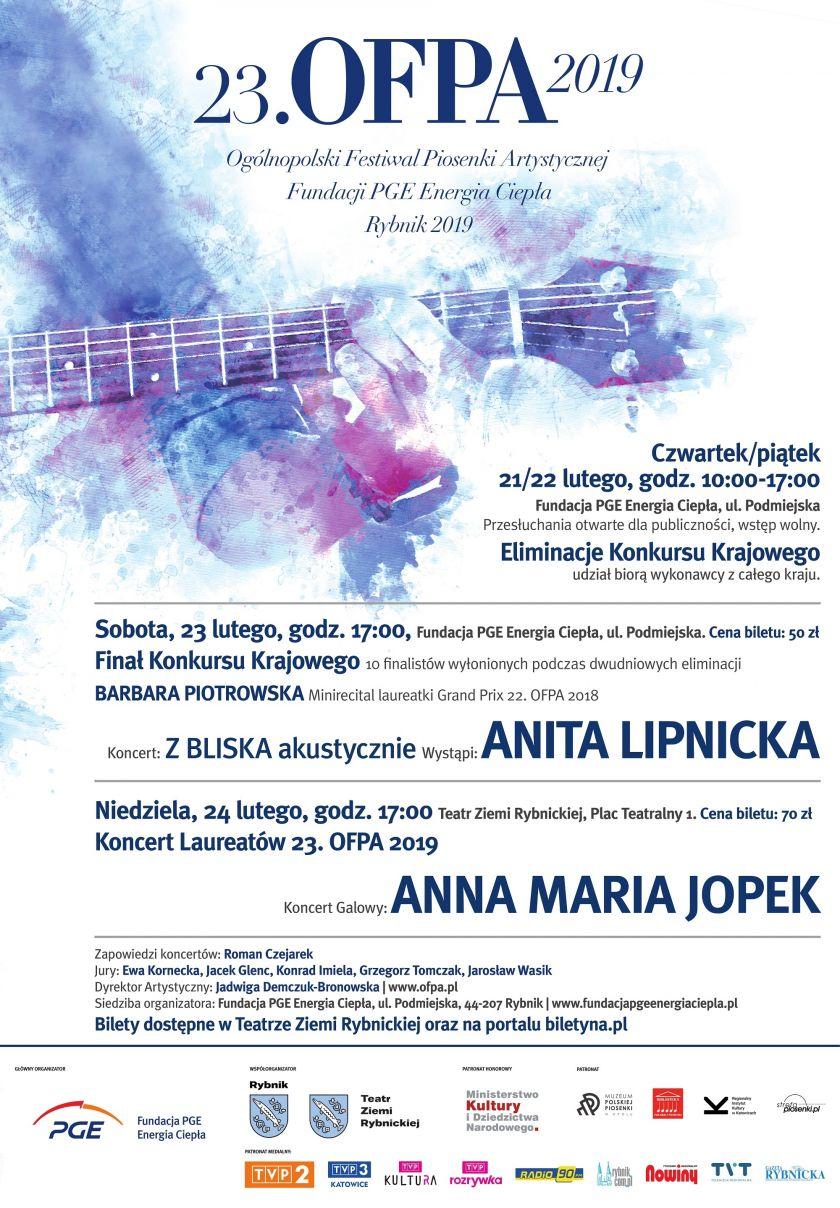 23 Ogólnopolski Festiwal Piosenki Artystycznej OFPA