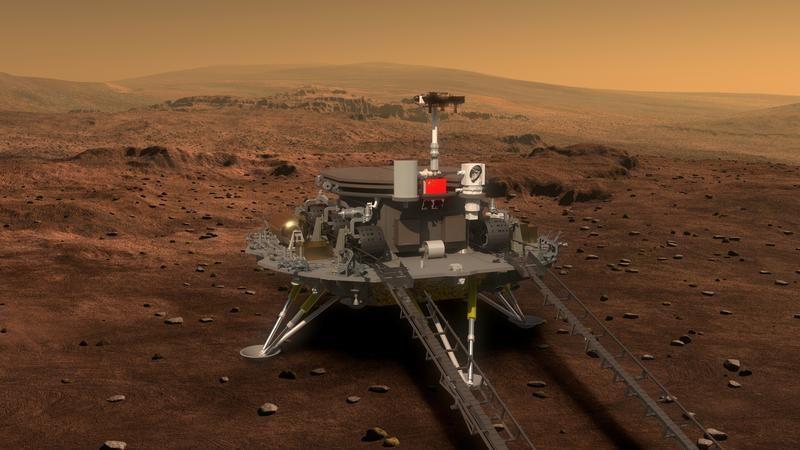 Projekt Chińskiego rovera, przeznaczony do zwiedzania powierzchni Marsa przez trzy miesiące (fot. China Daily/via REUTERS)