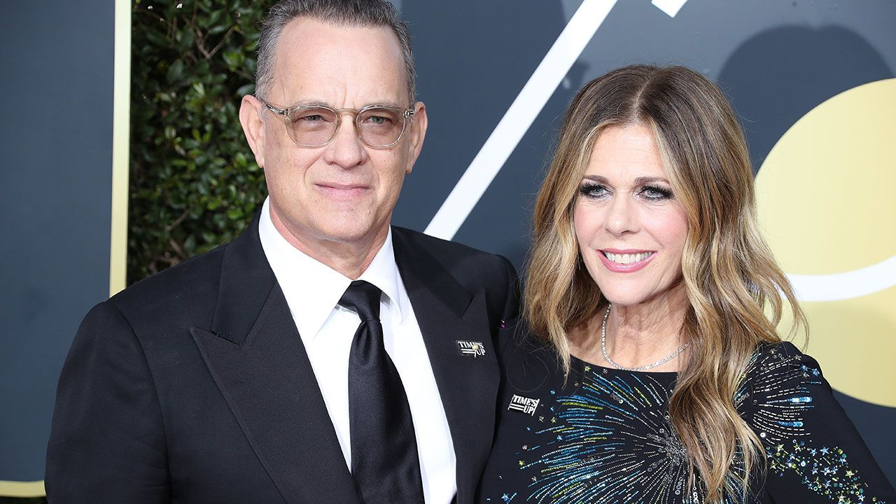 Tom Hanks z żoną Ritą Wilson (fot. EPA/PAP)