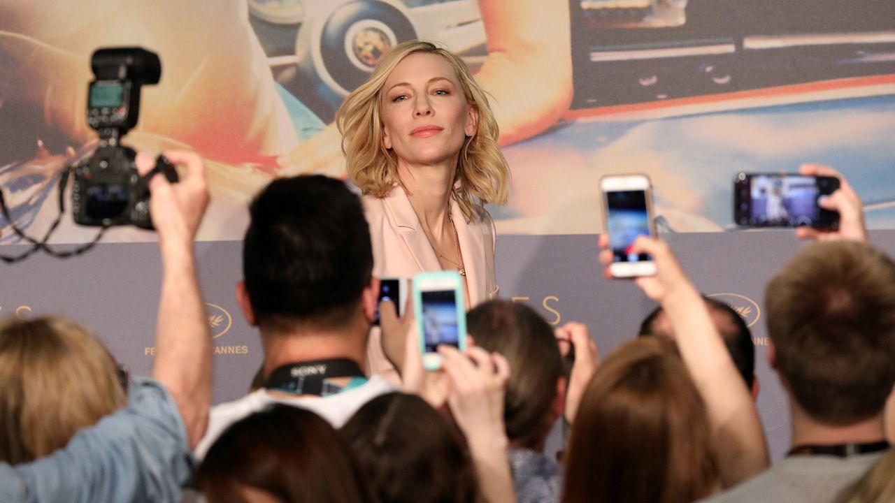 Przewodniczący jury, australijska aktorka Cate Blanchett podczas konferencji prasowej Jury podczas 71. corocznego Festiwalu Filmowego w Cannes (fot. PAP/EPA/Tristan Fewings / POOL)