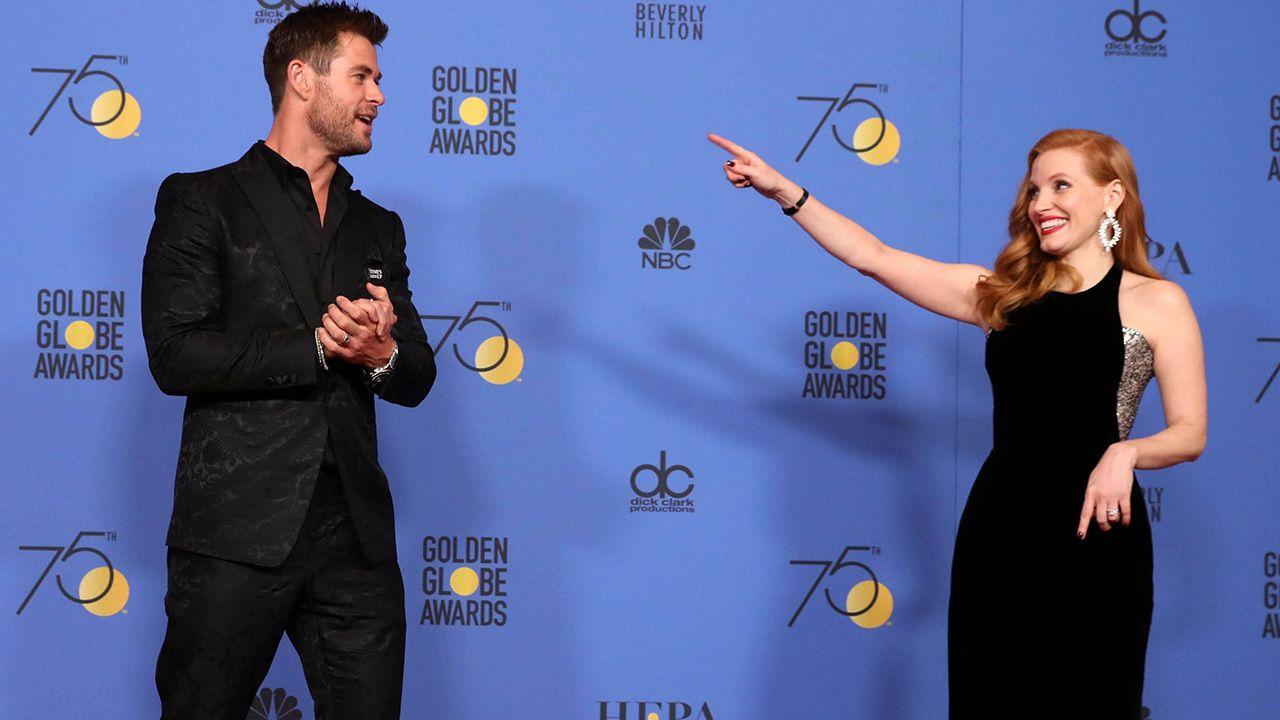 Chris Hemsworth i Jessica Chastain (fot. EPA/PAP)
