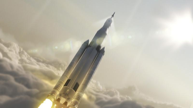 Projekt rakiety Space Launch System (SLS) do lotów na Księżyc, na Marsa i na asteroidy (fot. REUTERS/NASA/MSFC)