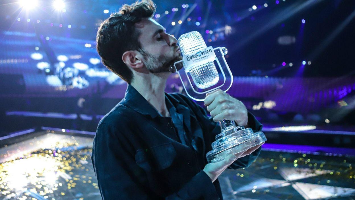 I to właśnie do niego powędrowało eurowizyjne trofeum (fot. Thomas Hanses/EBU)