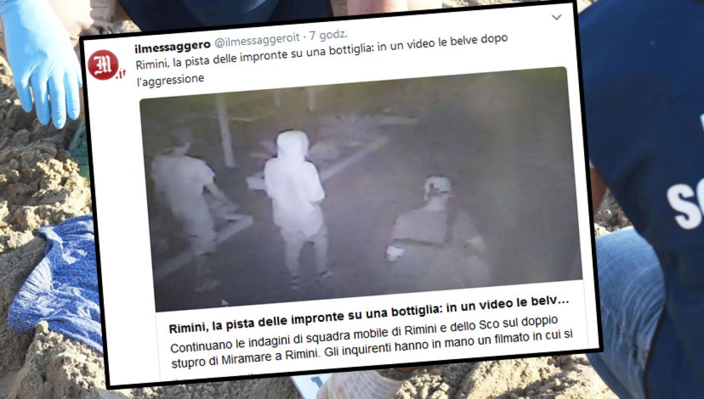 Nieletni napastnicy, którzy na plaży w Rimini zaatakowali i zgwałcili Polaków, staną przed sądem w marcu(fot. PAP/EPA/MANUEL MIGLIORINI, Twitter.com/ ilmessaggero)