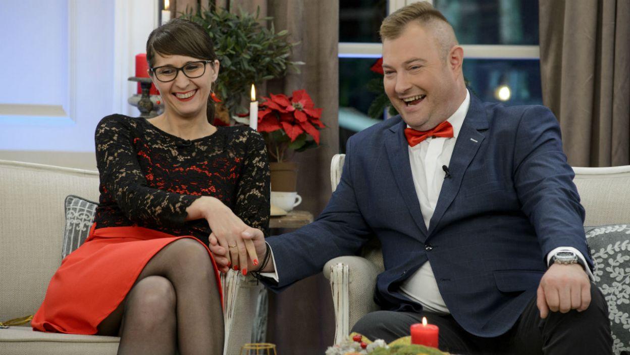 Jak układa się w związku Łukasza i Agaty? (fot. TVP)