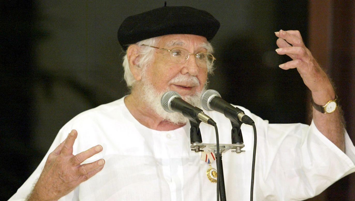 Ernesto Cardenal był ministrem kultury w pierwszym rządzie Ortegi (fot. REUTERS/Claudia Daut)