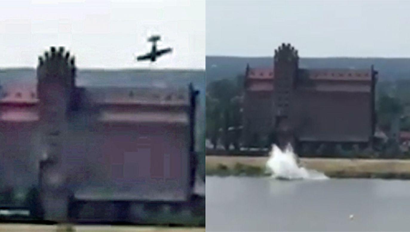 Do wypadku doszło podczas wykonywania przez pilota ewolucji (fot. YouTube/PetroNews)
