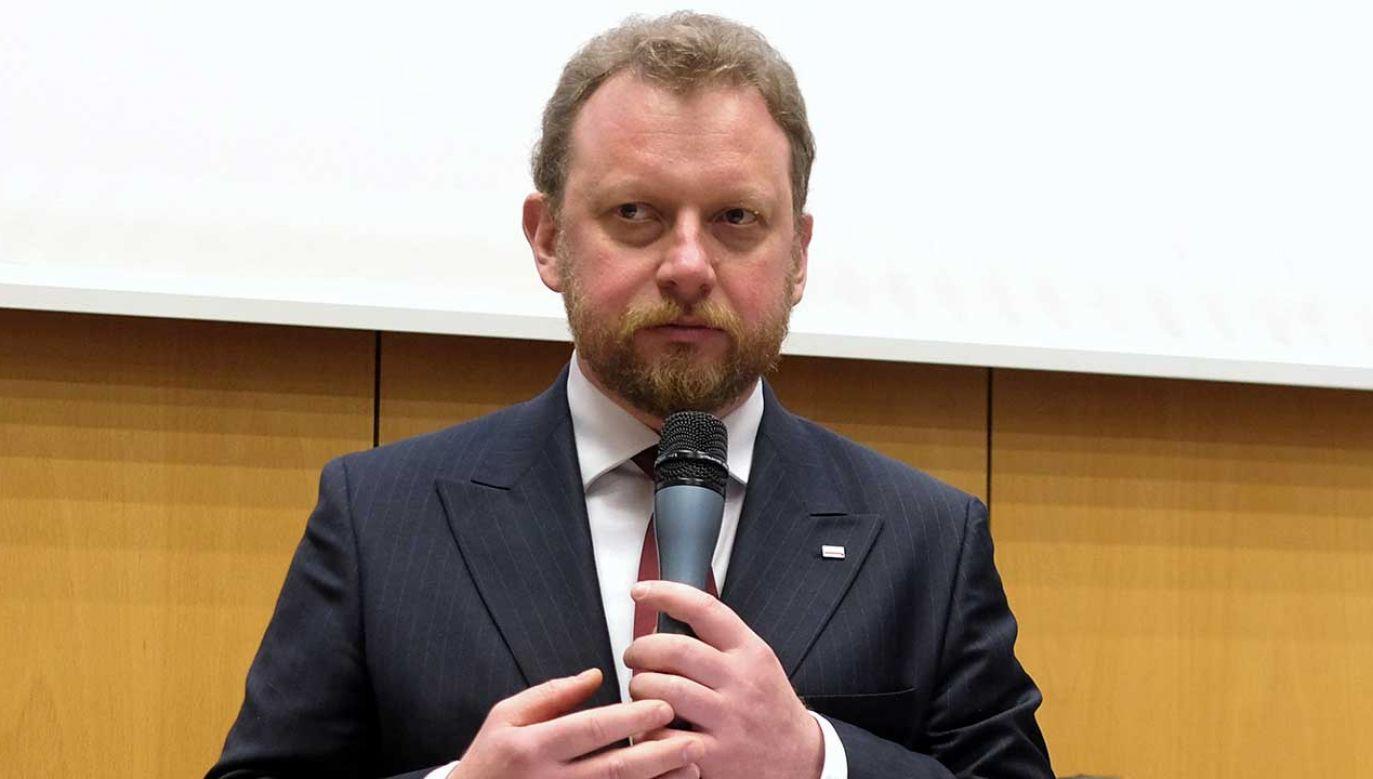 Minister zdrowia Łukasz Szumowski (fot. PAP/Andrzej Grygiel)