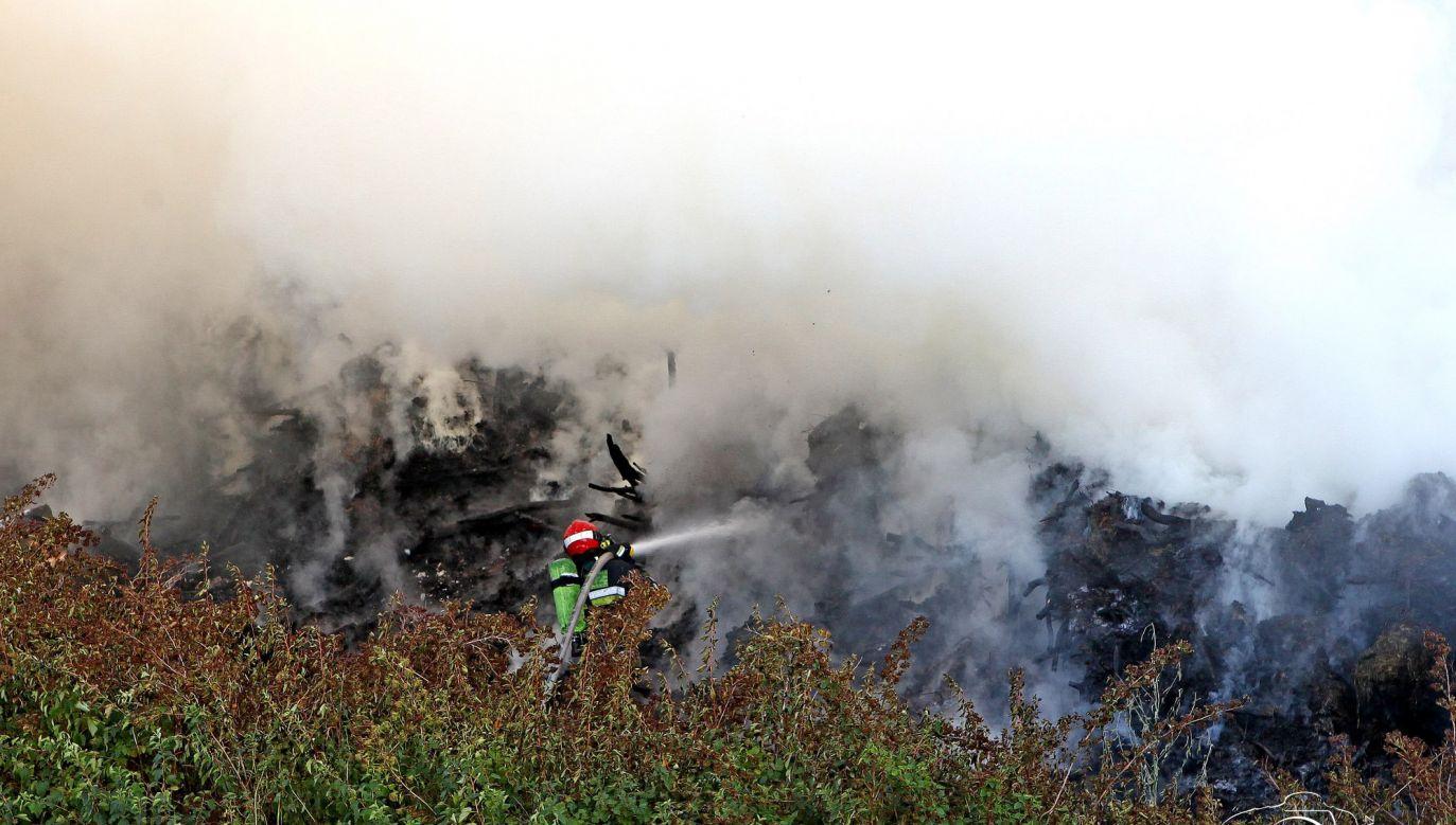 Dym z wysypiska śmieci widać aż w kujawsko-pomorskim (fot. Dariusz Ossowski/Tygodnik Płocki)