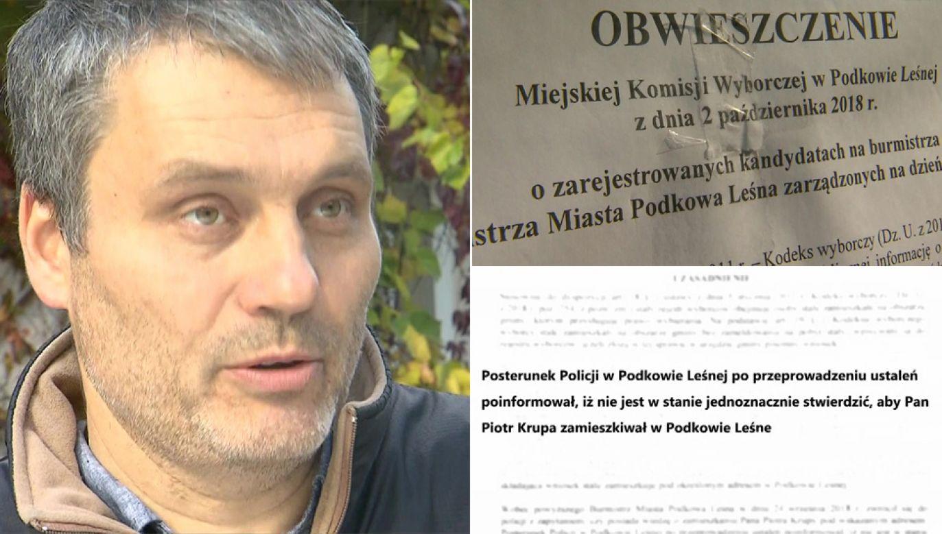 Piotr Krupa nie wystartuje w wyborach na radnego (fot. TVP1)