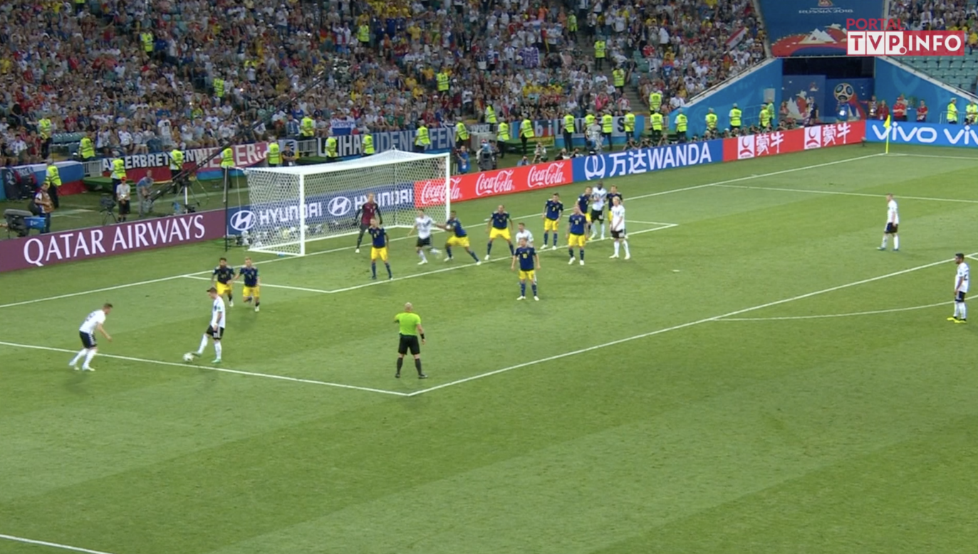 mecz Niemiec ze Szwecją podczaś MŚ w Rosji