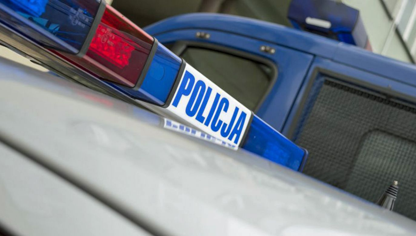 Droga została zablokowana (fot. TVP/Paweł Chrabąszcz)