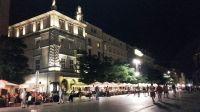 Kraków nocą – Linia A-B (fot. Kazimierz Martyniak)