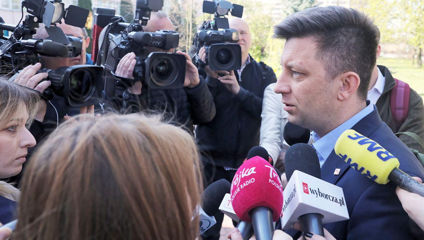 Szef KPRM Michał Dworczyk.  (fot.  PAP/Tomasz Gzell)