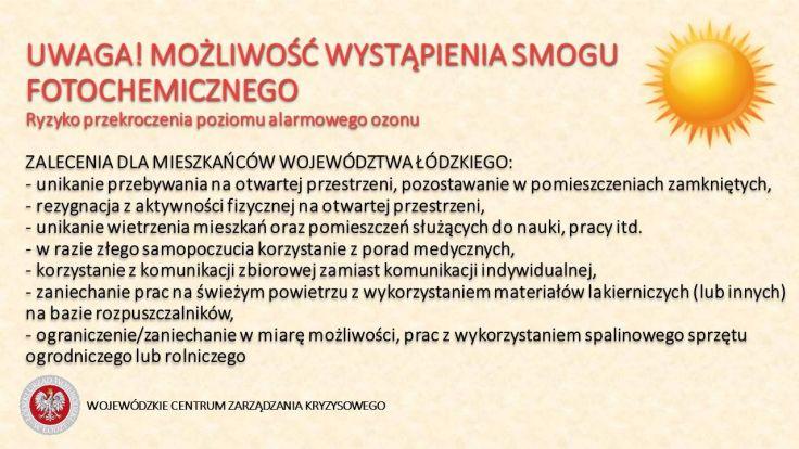 fot. Wojewódzkie Centrum Zarządzania Kryzysowego w Łodzi